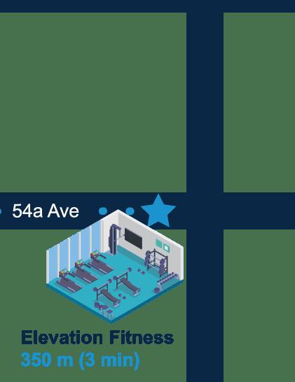 Elevation Fitness 350m (3 min walk)
